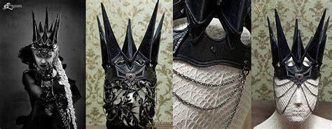 fantasy leather crown dark queen by aetherwerk she s a fantasy lederkrone dark queen by aetherwerk on deviantart