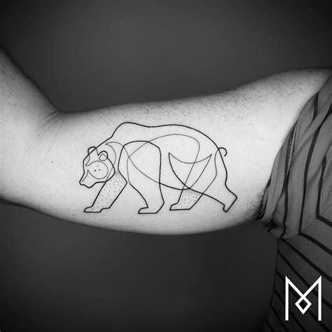 line tattoo new minimalistic single line tattoos by mo ganji colossal