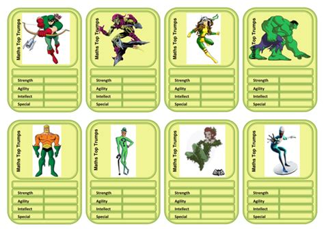 top trumps cards template differentiated top templates by fantus teaching