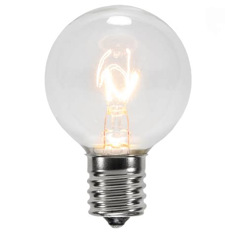 Christmas Lights G40 Transparent Clear 7 Watt Replacement Light Bulbs