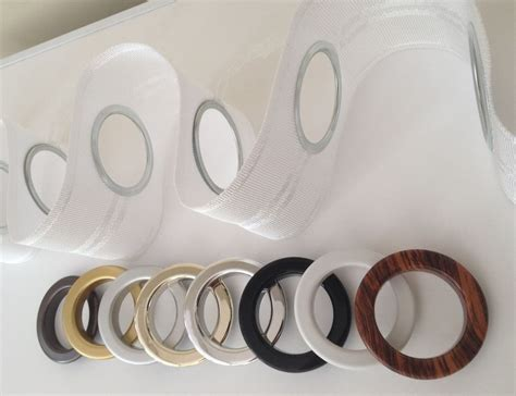 curtain ring with eyelet eyelet heading curtain tape and rings per metre 8 choices