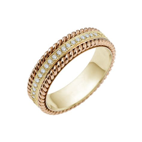 Rope Wedding Bands by Florence Rope Wedding Band Timeless Wedding Bands