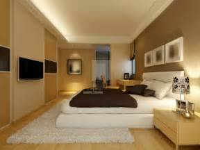 Large light brown bedroom with white rug and bed light wood furniture