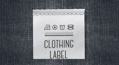 Free Clothing Label Mockups Woven Label Template