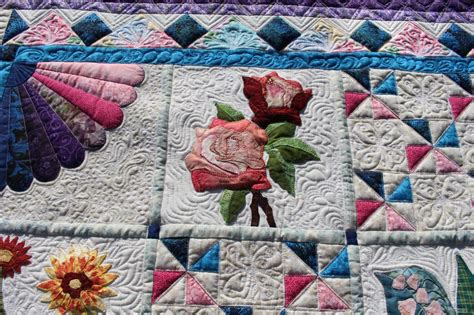 s quilting buoyant blossoms quilt all done