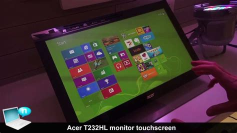 Monitor Acer T232hl acer t232hl monitor touchscreen