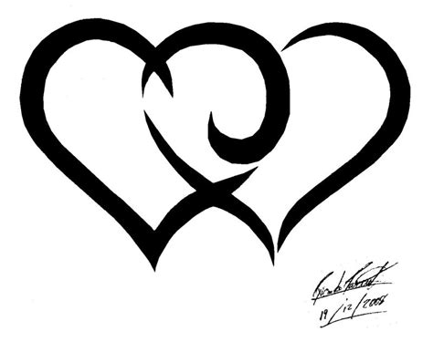 double heart tattoo designs flower tattoos tribal hearts flower