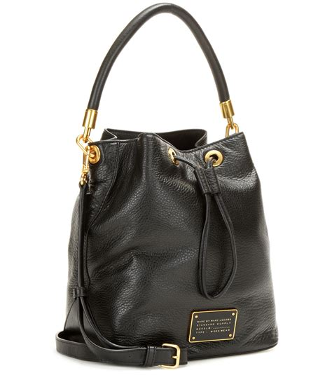 Marc By Marc Aline Leather Handbag by Lyst Marc By Marc Large Leather Bag In Black