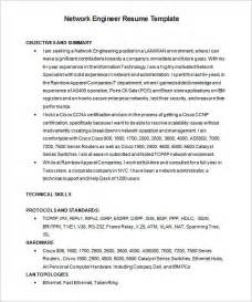 network engineer resume template 7 free sles