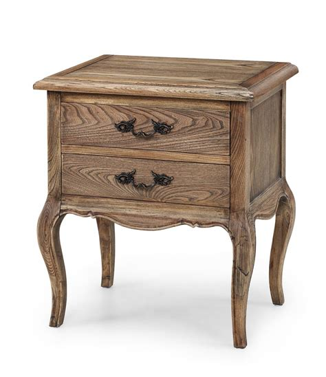 Bed End Table by Provincial Furniture Bed Side Table With 2 Drawers