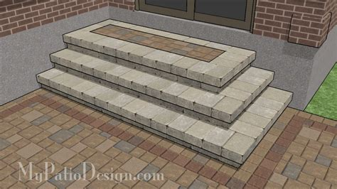 Patio Steps Design Step Designs For Your Patio Downloadable Plans