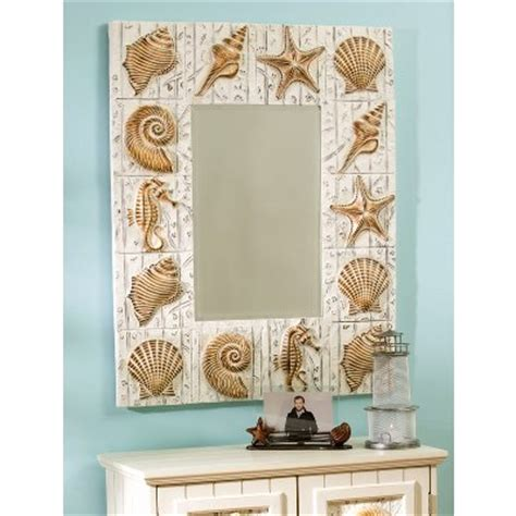 shell bathroom mirror seashell frame mirror