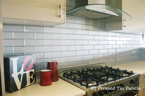 Backsplash Ideas For The Kitchen by Brick Kitchen Mercury Silver Splash Back