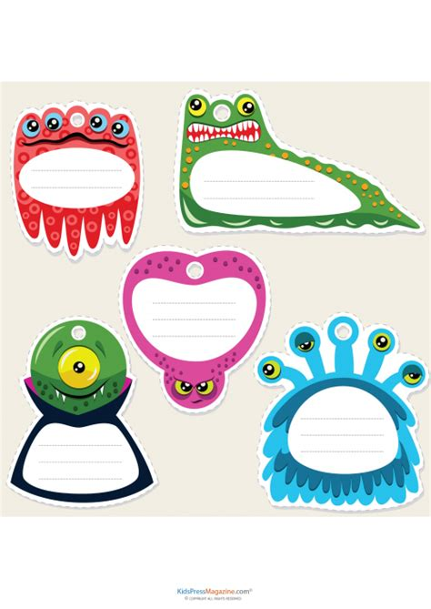 ocean theme name cards names and cards name cards monsters theme kidspressmagazine com