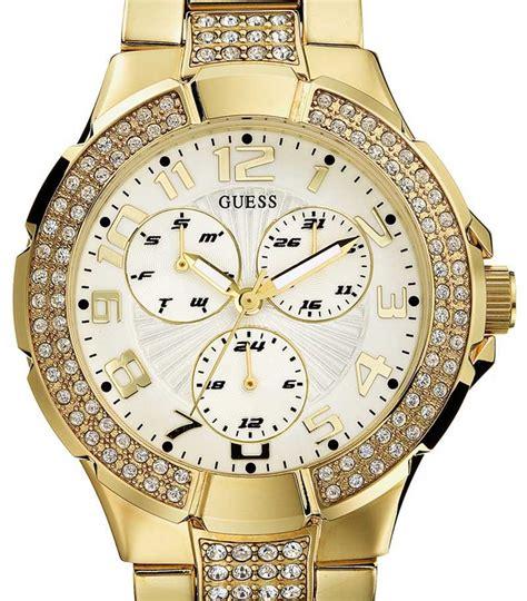 Guess Ceramica Bulat Gold Berkualitas guess gold watches