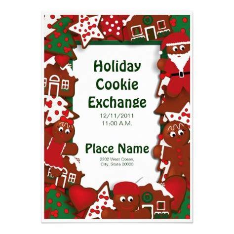 holiday cookie exchange invitation cookie exchange