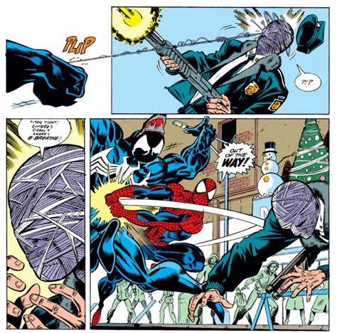 Cctv Venom spider saves a security guard from venom in amazing