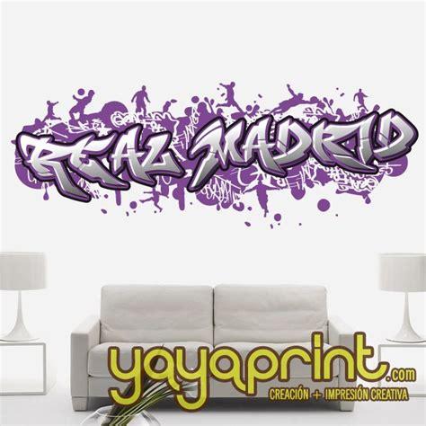 wallpaper graffiti real madrid graffiti con tu nombre personalizado en vinilo adhesivo a