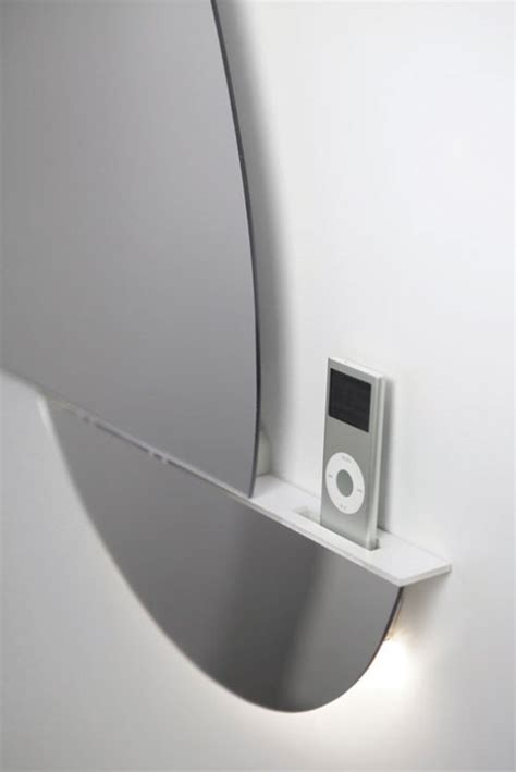 supermodern mirror with ipod iphone docking station digsdigs