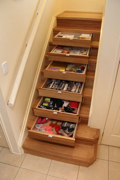 Stairs With Drawers In The Risers by Instep Drawers Stair Storage Instep Drawers