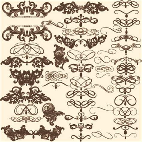 design elements cdr vintage calligraphic design elements free vector download