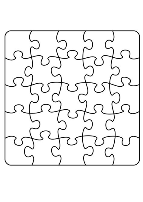 large puzzle template clipart jigsaw puzzle a4 5 x 5