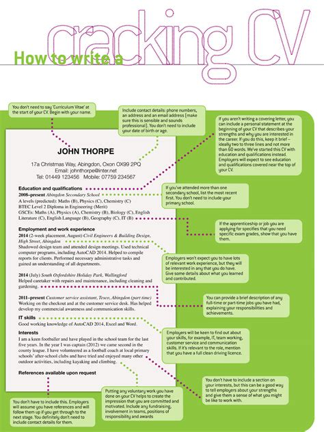 Simple Resume Examples For Jobs by How To Write A Cracking Leaver Cv Targetcareers