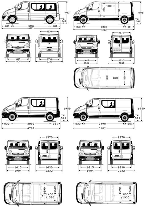 renault trafic dimensions the gallery for gt vauxhall vivaro dimensions