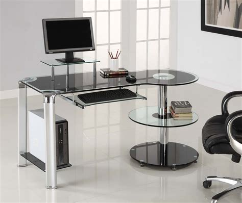 Ryman Glass Computer Desk Computer Room On Pinterest Computer Desks Roman Shades
