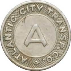 1 fare atlantic city transp co tokens numista