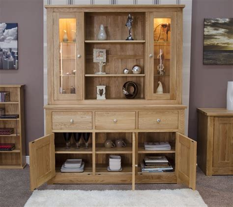 kingston solid modern oak furniture large dresser display