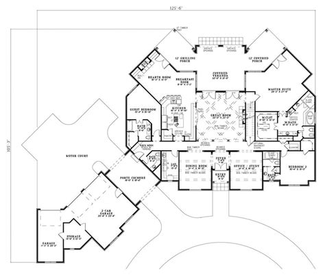 House Plans Porte Cochere Fanchon Luxury Home Plan 055s 0107 House Plans And More