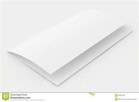 Folded Sheet Of Paper - the folded blank sheet of paper stock illustration image