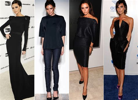 wt ladies fashion is trending in nairobi victoria beckham 50 shades of black posh shows us the