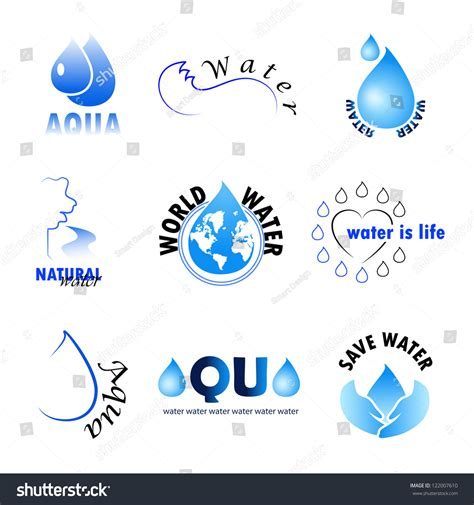 water design elements 25 vector collection of water design elements on white background