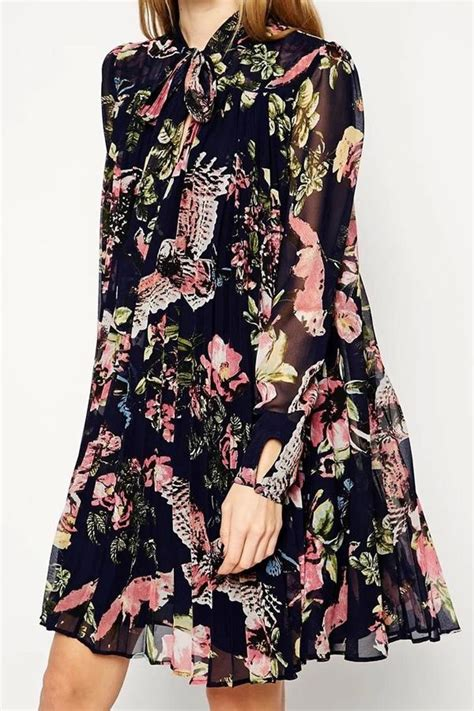 Sleeve Print Chiffon Dress 1000 ideas about floral print dresses on