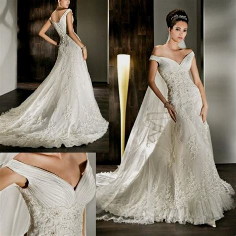 Antique Wedding Dresses by Vintage Lace The Shoulder Wedding Dress Naf Dresses