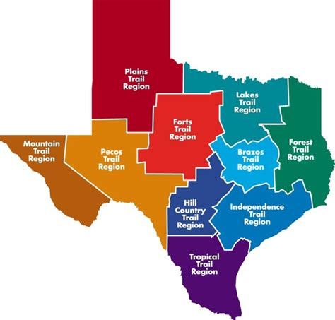 region of texas map the 10 heritage trails regions of texas texas