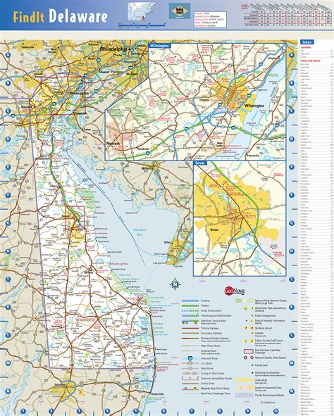 detailed map of delaware delaware state wall map by globe turner