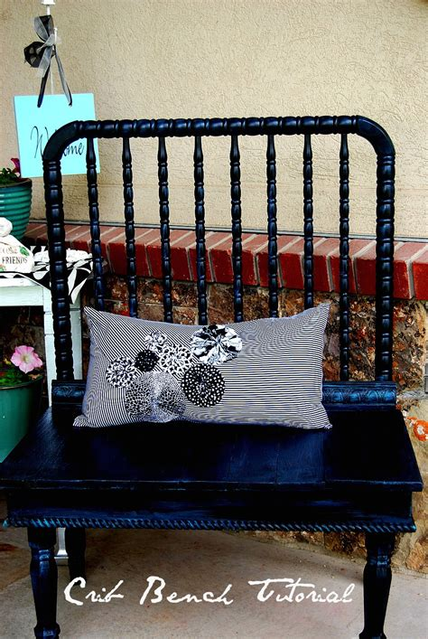 how to make a bench out of old chairs spring project make a bench out of an old crib my blog