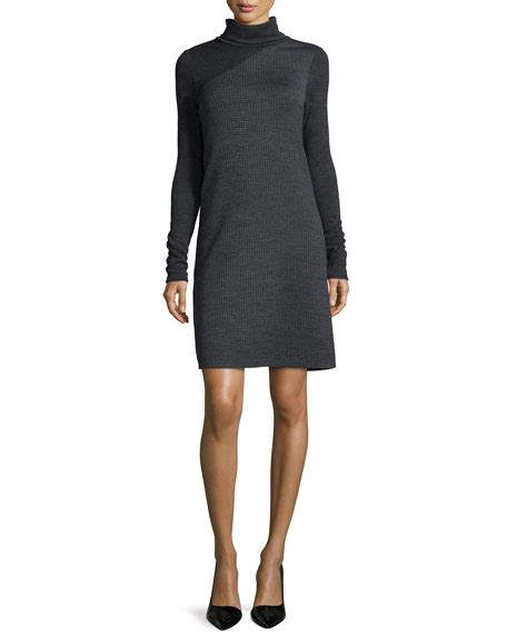 Sleeve Turtleneck Knit Dress theory tajello patterned knit sleeve turtleneck dress