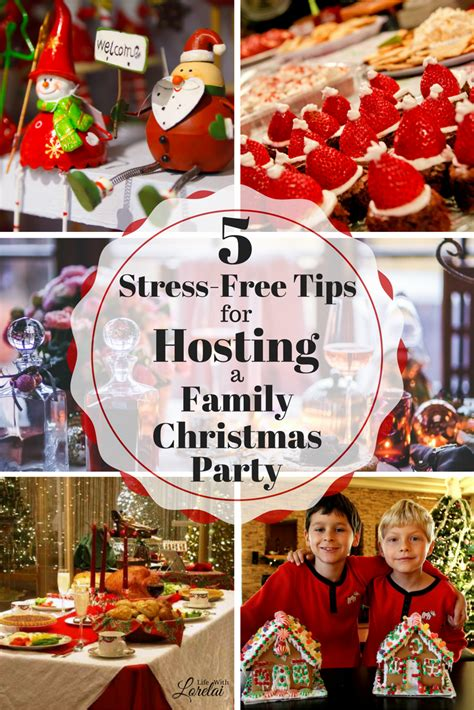 5 tips for hosting a stress free family christmas party