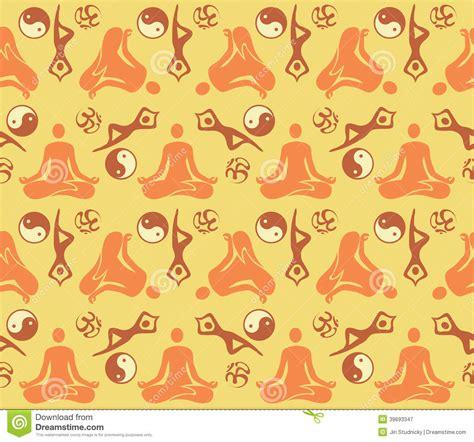 yoga pattern vector seamless yoga symbols pattern stock vector image 39693347