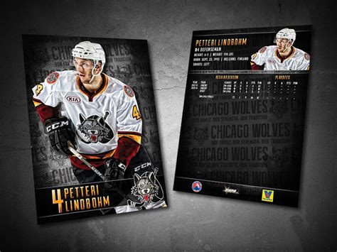 Chicago Wolves Giveaways - chicago wolves 2014 15 trading cards on behance