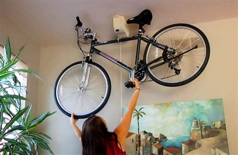 Bike Ceiling by Bicycle Ceiling Mount Storage System Promises Ease Of Use