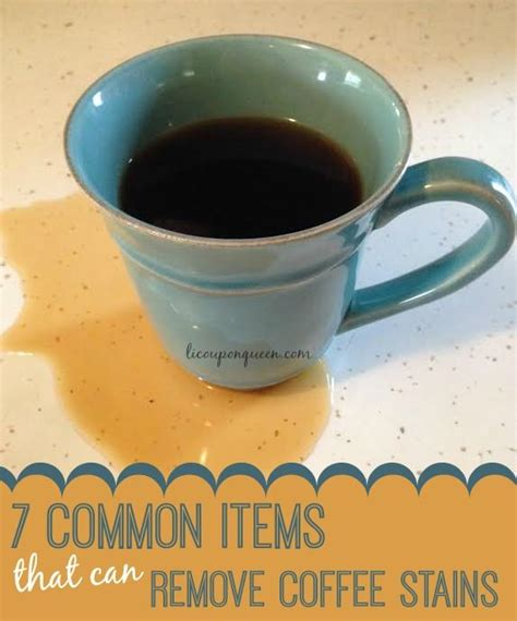 7 common household items that remove coffee stains