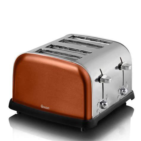 Swan Toaster Swan St16010copn 4 Slice Metallic Toaster Copper Iwoot