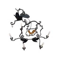 rooster chandelier antique rooster sign chandelier chairish