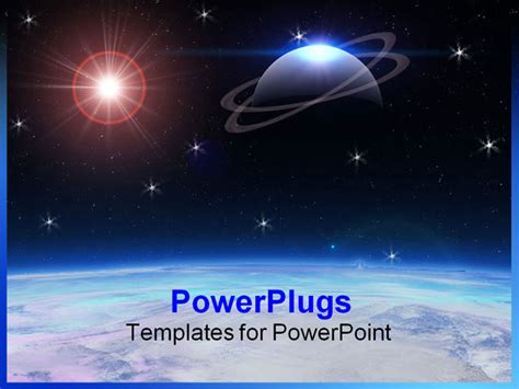 templates powerpoint space 3d render powerpoint template background of 3d alien art