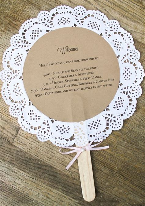 Handmade Fans For Weddings - doily wedding program fans custom vintage inspired